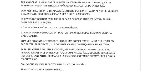 BAN INSTAL.LACIÓ DE FIBRA ÒPTICA