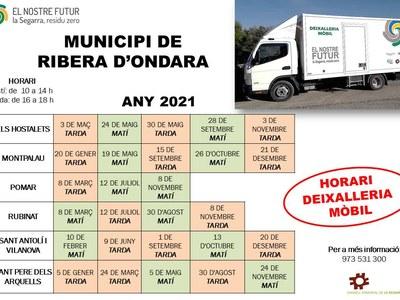 SERVEI DE DEIXALLERIA MÒBIL 2021